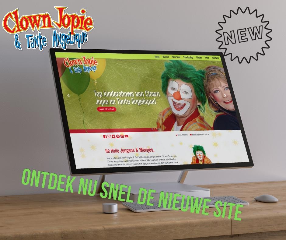 Nieuwe website Clown Jopie en Tante Angelique